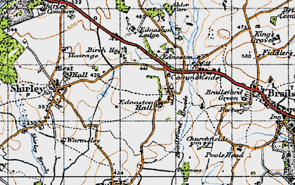 Old map of Alder Carr in 1946