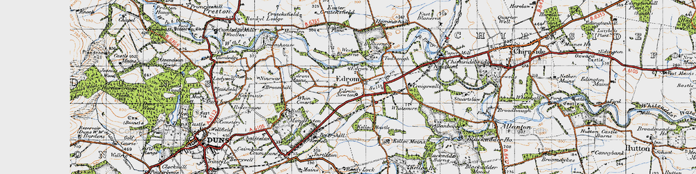 Old map of Whin Covert in 1947