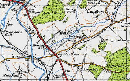 Old map of Austy Wood in 1947