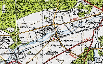 Old map of Edwinstowe in 1947