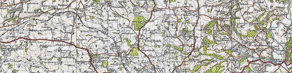 Old map of Winslow Grange in 1947