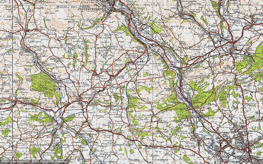 Old Map of Efail Isaf, 1947 in 1947