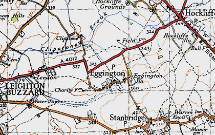 Old map of Eggington in 1946