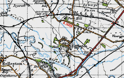 Old map of Egginton in 1946