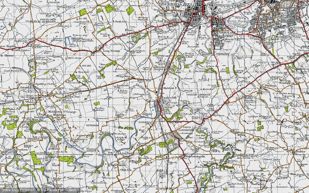 Old Map of Historic Map covering Allens West Sta in 1947