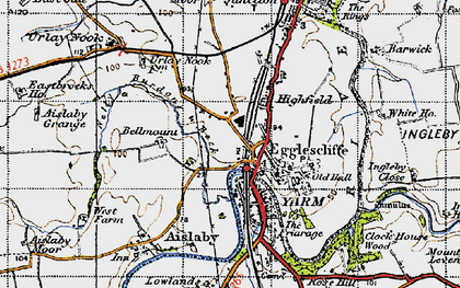 Old map of Egglescliffe in 1947