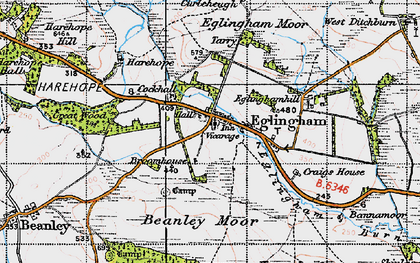 Old map of Bannamoor in 1947
