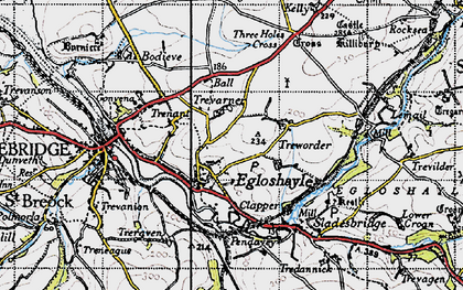 Old map of Egloshayle in 1946