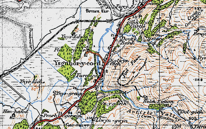 Old map of Ynys-hir Nature Reserve in 1947