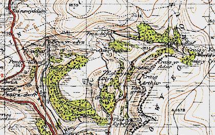 Old map of Eglwyseg in 1947