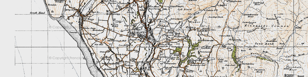 Old map of Egremont in 1947