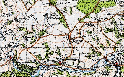 Old map of Egton in 1947