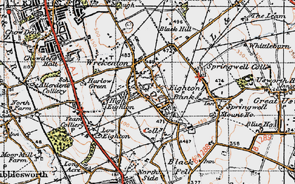 Old map of Eighton Banks in 1947
