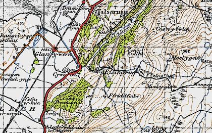 Old map of Eisingrug in 1947