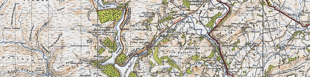 Old map of Y Gurn in 1947