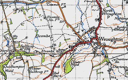 Old map of Elcombe in 1947