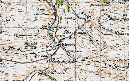 Old map of Elerch in 1947