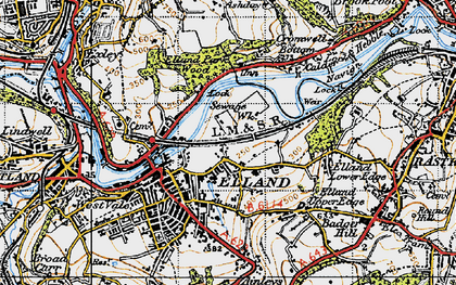 Old map of Elland in 1947