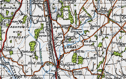 Old map of Banton Ho in 1947