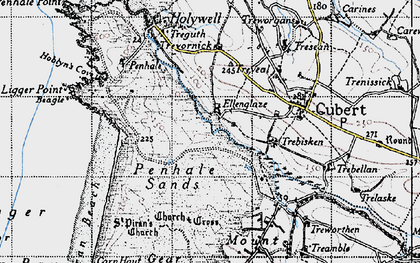 Old map of Ellenglaze in 1946