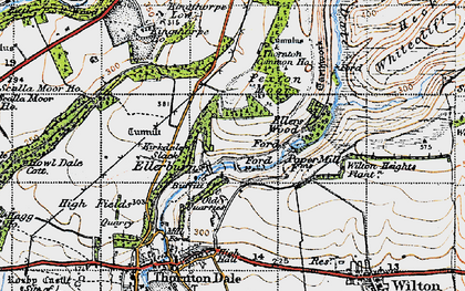 Old map of Wilton Heights Plantn in 1947