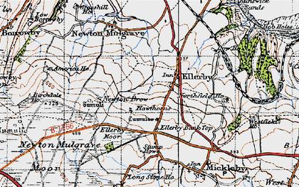 Old map of Ellerby in 1947
