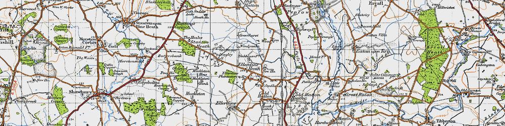 Old map of Windy Oak in 1947