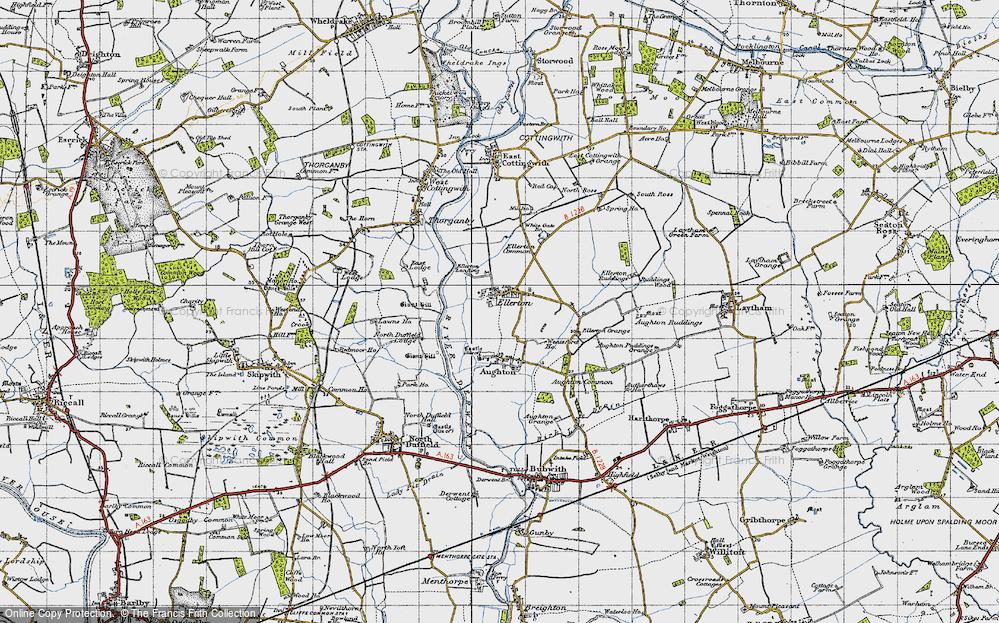 Old Map of Ellerton, 1947 in 1947
