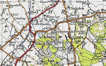 Old map of Ellesborough in 1946