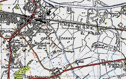 Old map of Ellesmere Port in 1947