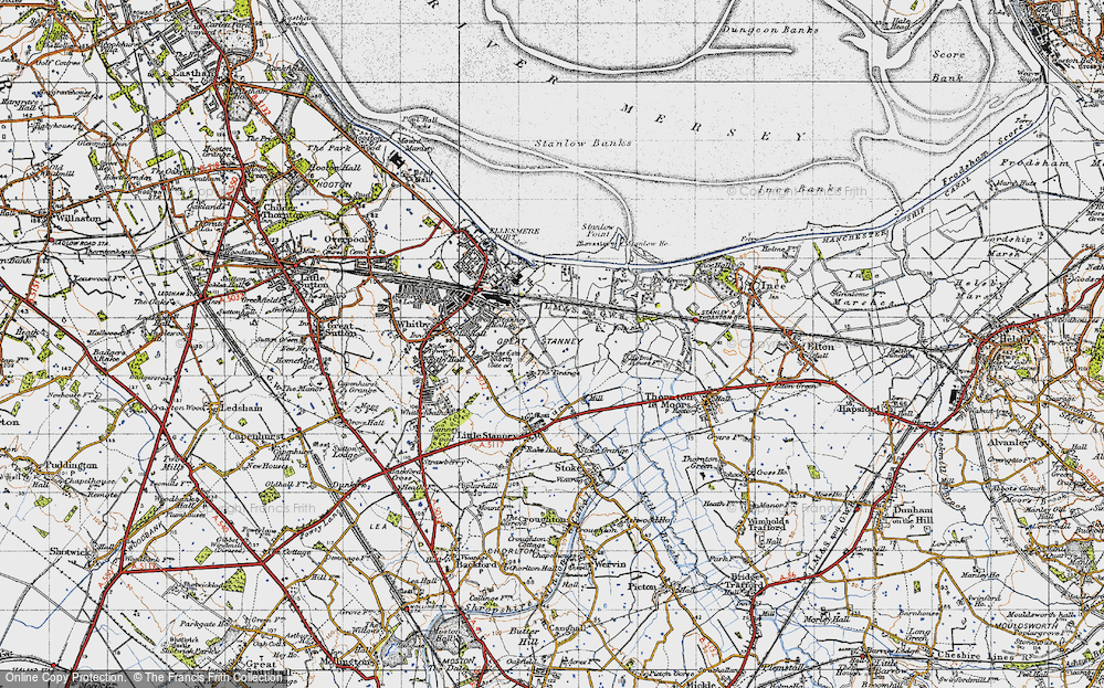 Map of Ellesmere Port 1947 Francis Frith