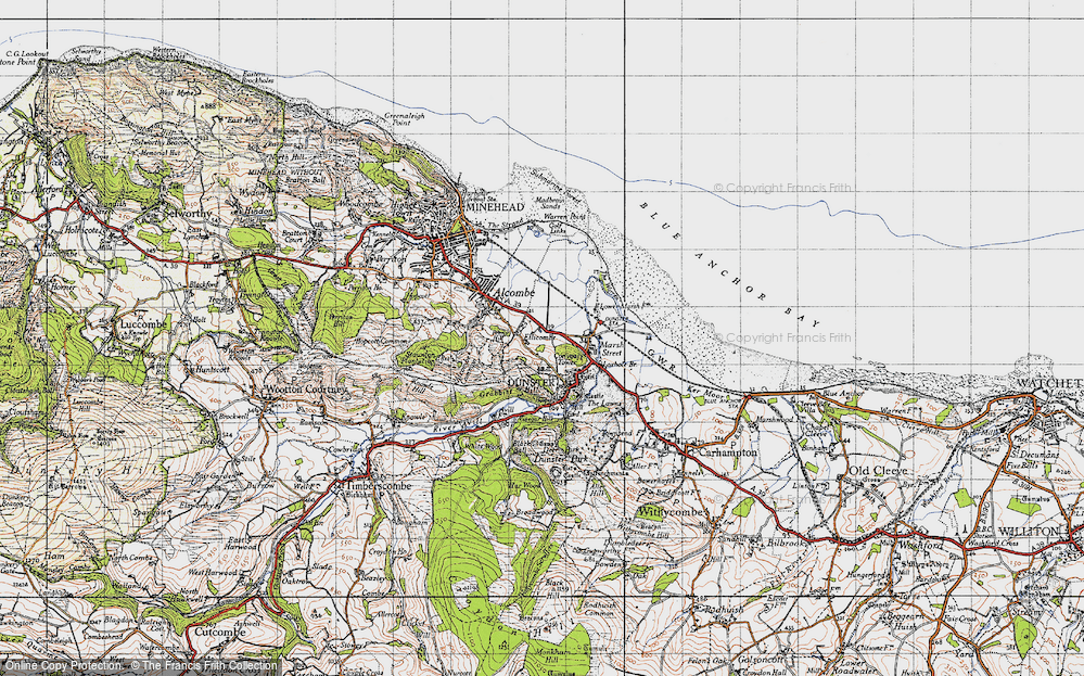 Old Map of Historic Map covering Aldersmead in 1946