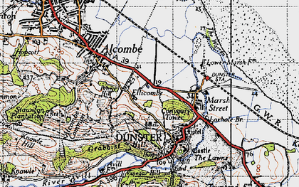 Old map of Aldersmead in 1946