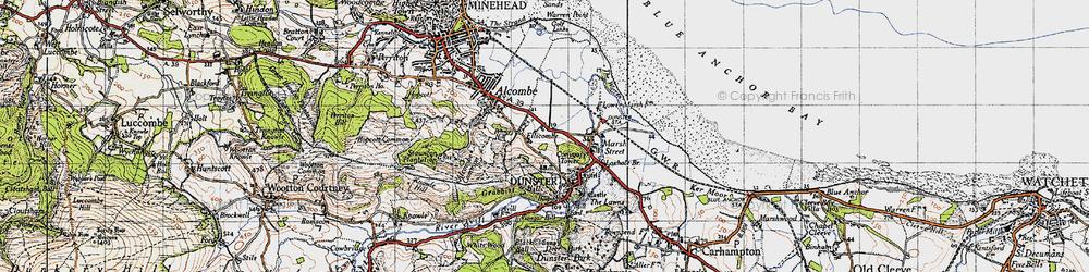 Old map of Aldersmead in 1946