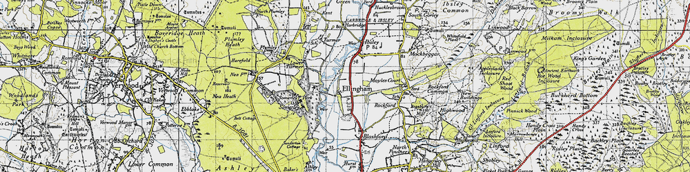 Old map of Ellingham in 1940