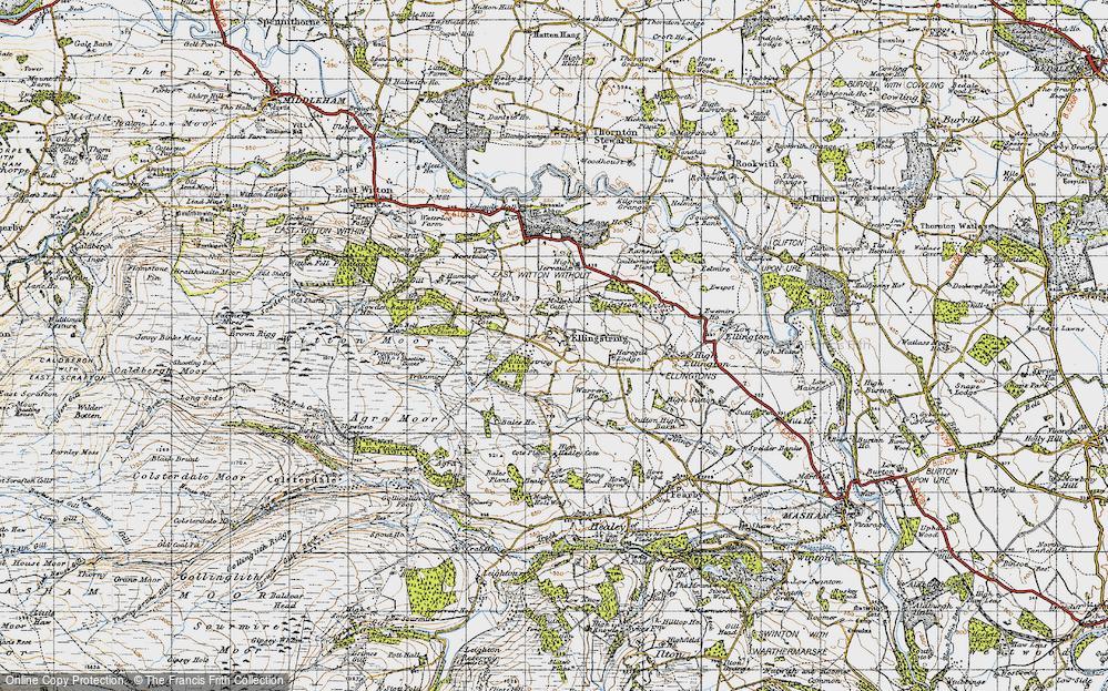 Old Map of Ellingstring, 1947 in 1947