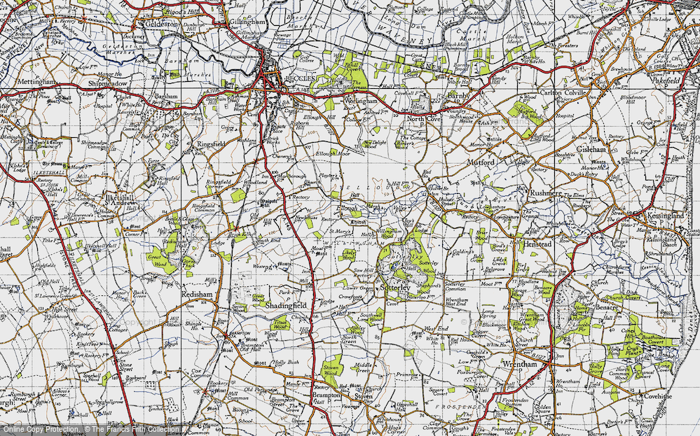 Old Map of Historic Map covering Likely Wood in 1946