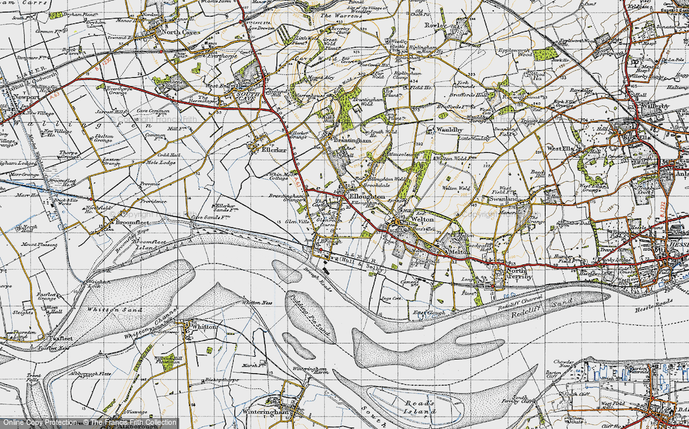 Old Map of Elloughton, 1947 in 1947