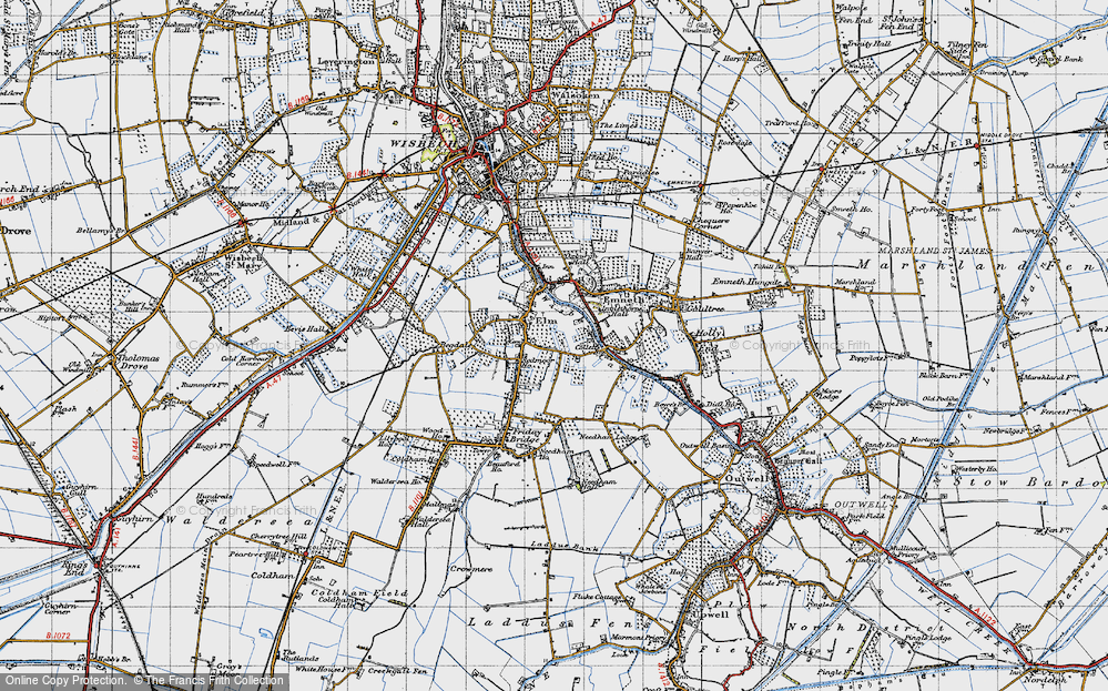 Old Map of Elm, 1946 in 1946