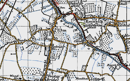 Old map of Elm in 1946