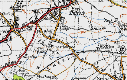 Old map of Aston Firs in 1946