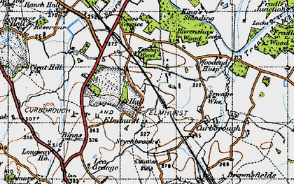 Old map of Lea Grange in 1946