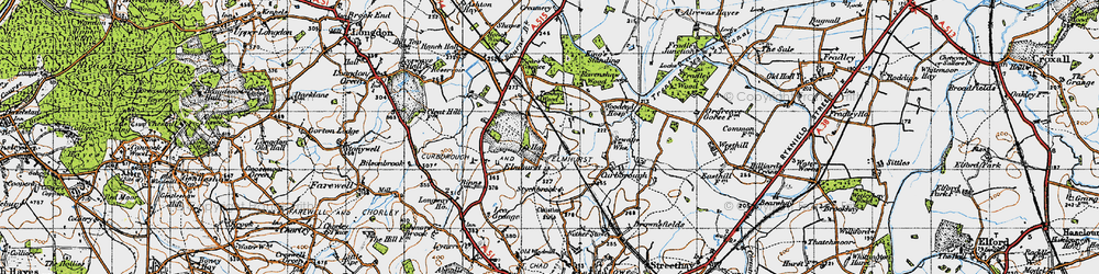 Old map of Tomhay Wood in 1946
