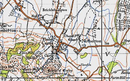 Old map of Elmley Castle in 1946