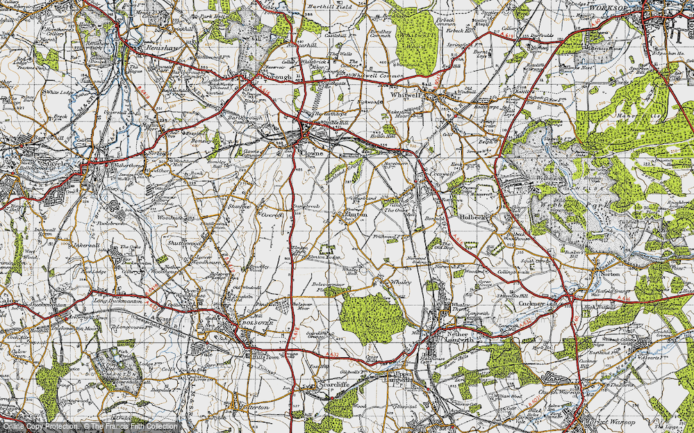 Old Map of Elmton, 1947 in 1947