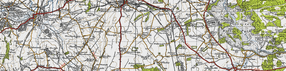 Old map of Whaley Hall in 1947