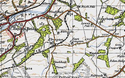 Old map of West Nubbock in 1947