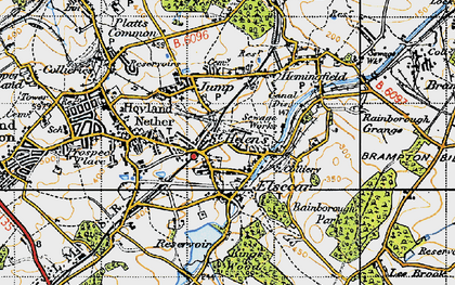 Old map of Elsecar in 1947