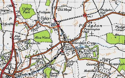 Old map of Alsa Wood in 1946