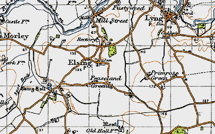 Old map of Elsing in 1946
